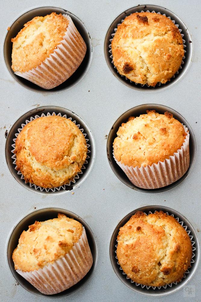 Muffins de mazapán y naranja