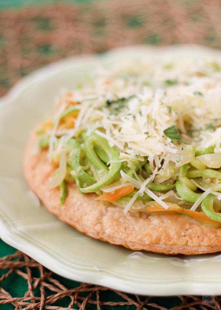 Pizza ligera de verduras