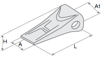 Коронка / Зуб ковша и рыхлителя, адаптеры, бокорезы KOMATSU