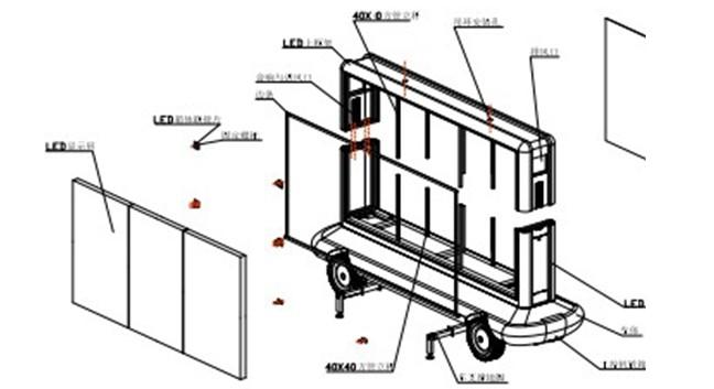 Mobile Truck LED Display Trailer LED Display