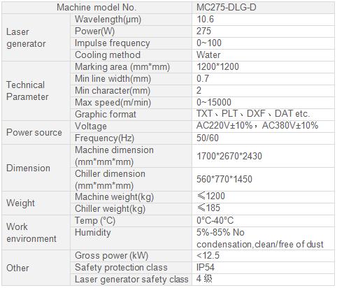 MC275-DLG-D Light guide plate laser marking machine_Hans