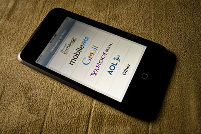 ipod touch email