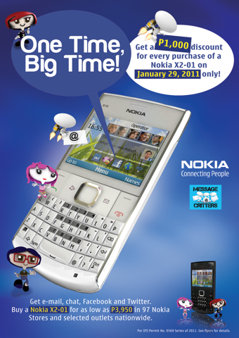 Nokia X2-01 One Day Sale on January 29 - YugaTech