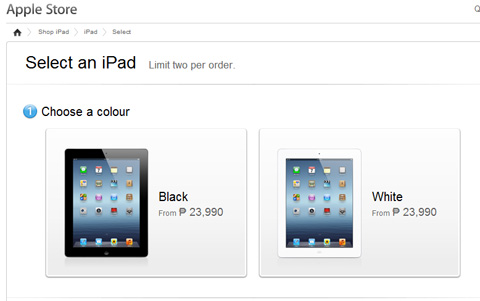 New iPad 3 now selling in the Apple Online Store - YugaTech