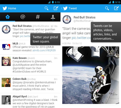 Twitter for Android gets Holo update - YugaTech