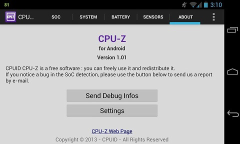 cpu-z for android