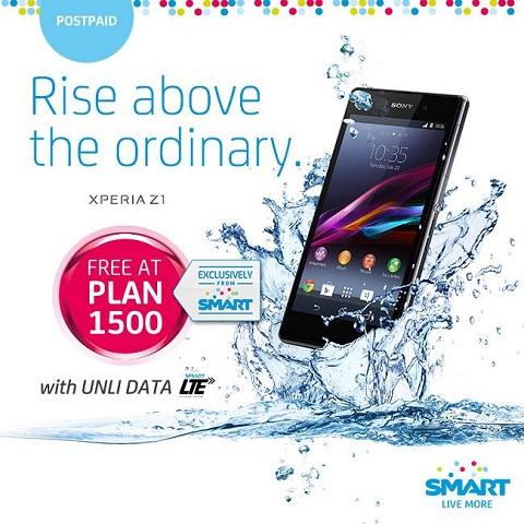 Sony Xperia Z1 free on Smart Plan 1500 - YugaTech | Philippines Tech