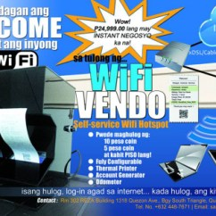 Ado Piso Wifi Wiring Diagram Hyster Electric Forklift Wi Fi Vending Machine A Self Service Internet Hotspot Yugatech This Enabled Can Give You Instant For As Low Php 1 It Uses An Iee802 11 B G N Compatible Router At 2 4ghz Band