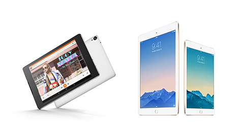 Nexus 9 vs iPad Air 2 Mini 3