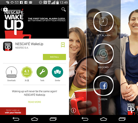 Nescafe releases Wake Up app for Android and iOS - YugaTech