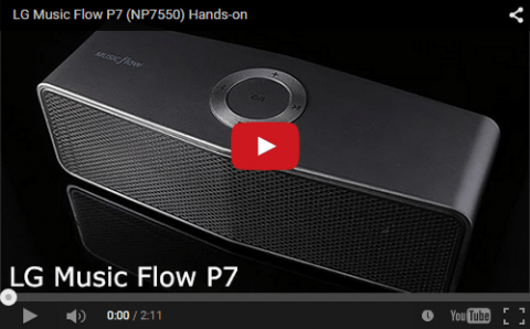 LG Music Flow P7 Hands-on