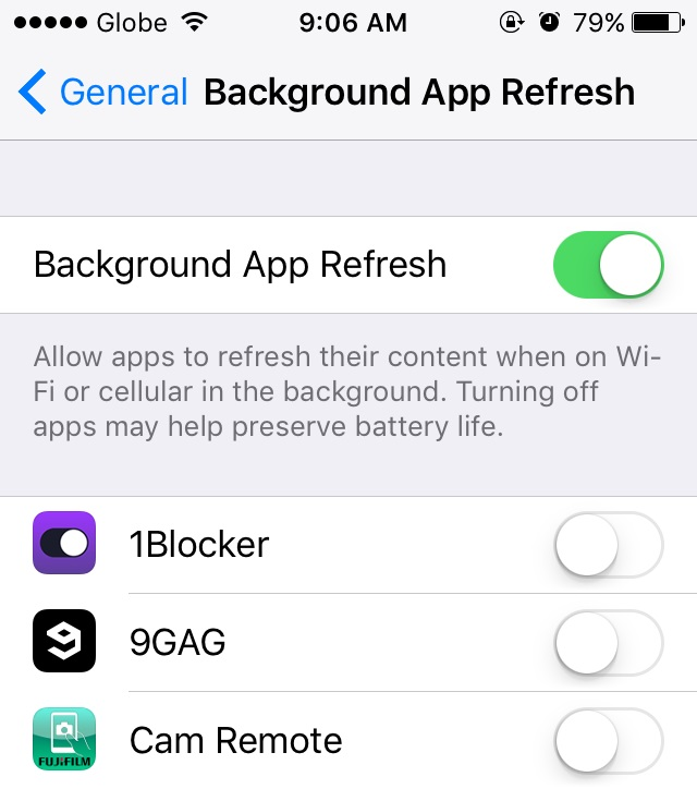 ios 9 background app refresh