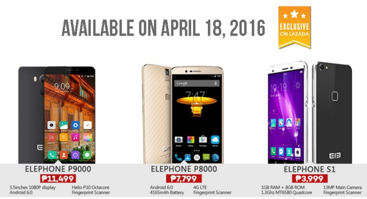 super popular c05ac d3eeb Elephone S1, P8000, P9000 to hit Lazada tomorrow - YugaTech ...