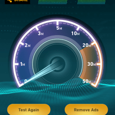 Test 7: The download speed clocked in at below the 20Mbps mark for the first time.
