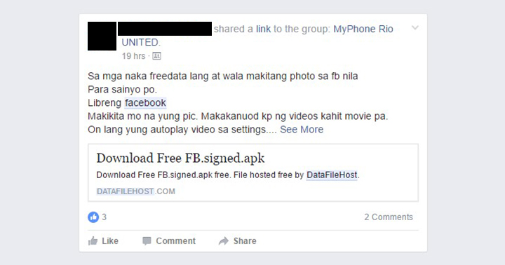 Phishing 'Facebook' app makes the rounds in FB groups