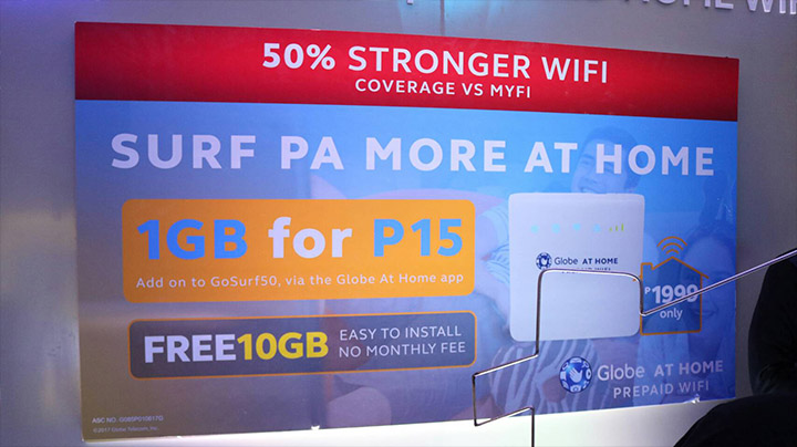 Globe HomeSurf15 gets you 1GB for Prepaid Home WiFi