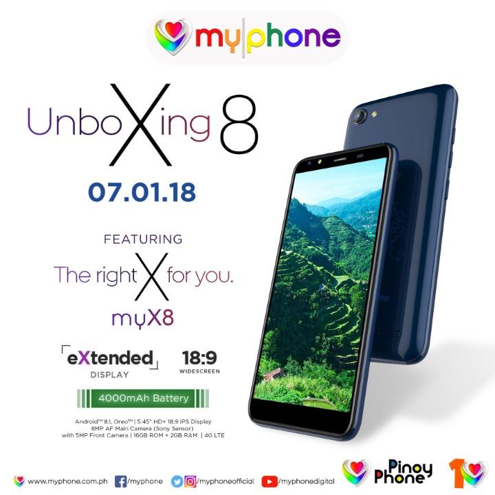 MyPhone myX8 to launch on July 1, key specs revealed - YugaTech