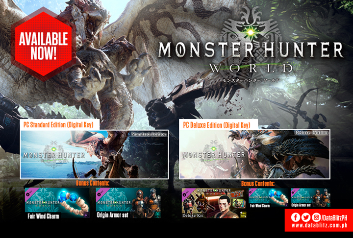 Monster Hunter World (Steam) digital keys now available at