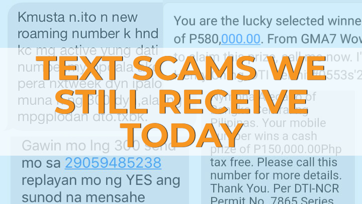 Text scams we still receive today - YugaTech | Philippines
