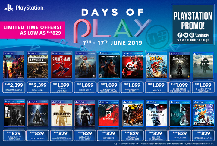 Sony PlayStation 4 game titles get discounts for a limited