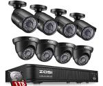 ZOSI 8-Channel HD-TVI 1080P Lite Video Security Camera System