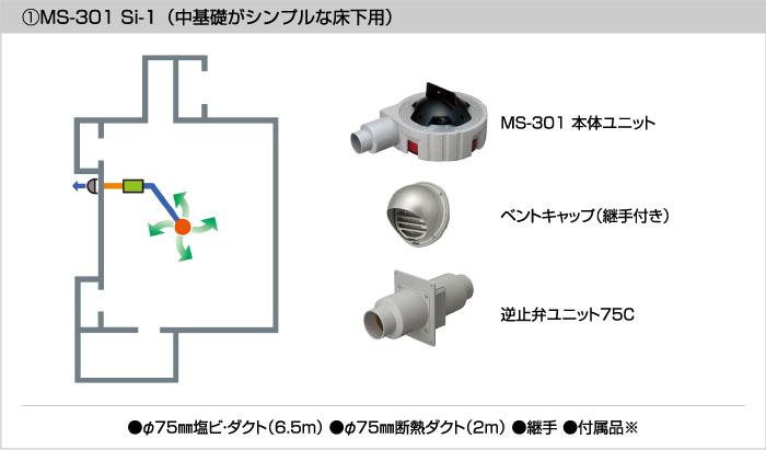 基礎斷熱工法・床下用(MS-301Siシリーズ)   床下換気.com