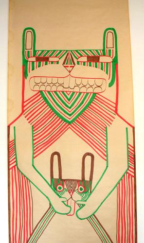 AWESOMO POWERA Felt tip drawing by Patrick Gildersleeves
