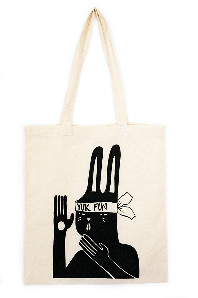 Kung fu bunny tote bag by YUK FUN