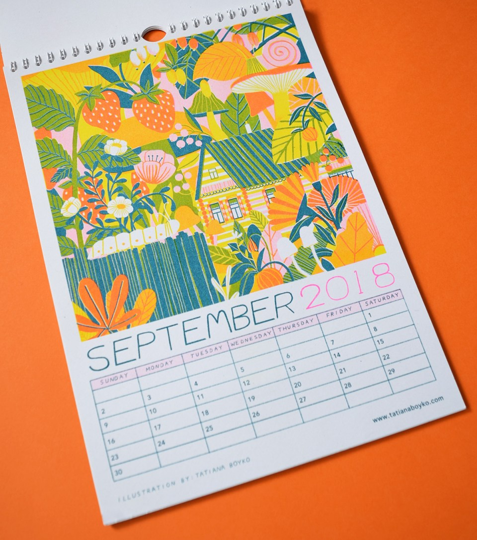 Collaborative calendar by Lauren Humphrey