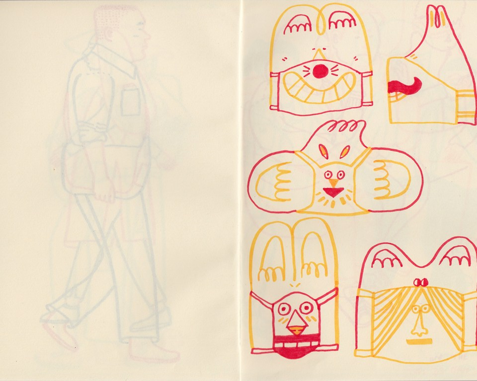Hong Kong sketchbook drawings by Patrick Gildersleeves