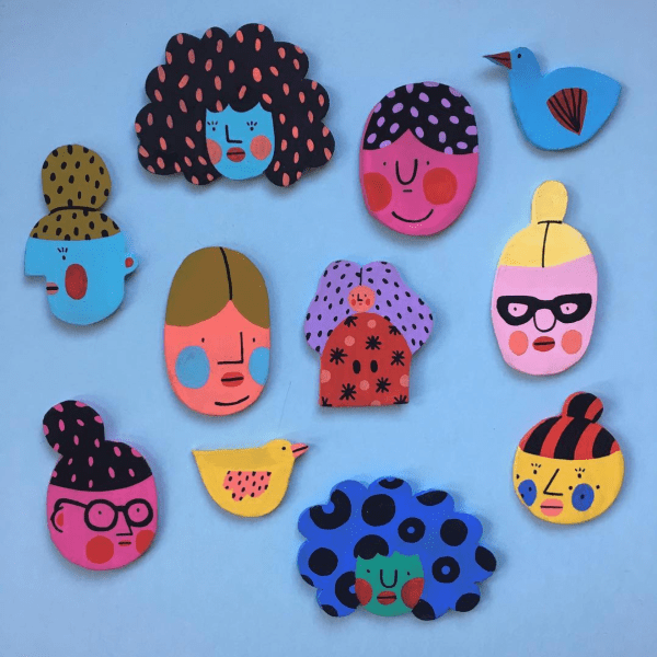 Handmade brooches by Molly Egan