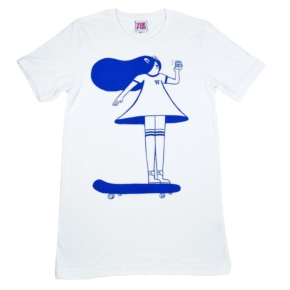 Skating is Life screen printed T-shirt
