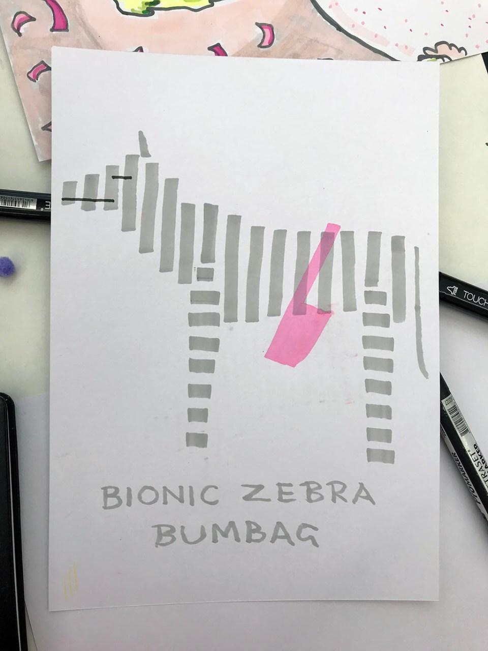 Bionic Zebra Bumbag by Jon McNaught