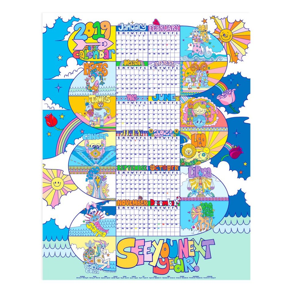 Beautiful Days 2019 calendar