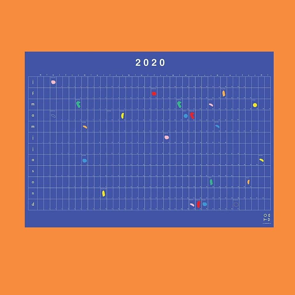 Blueprint 2020 calendar by Studio Todd
