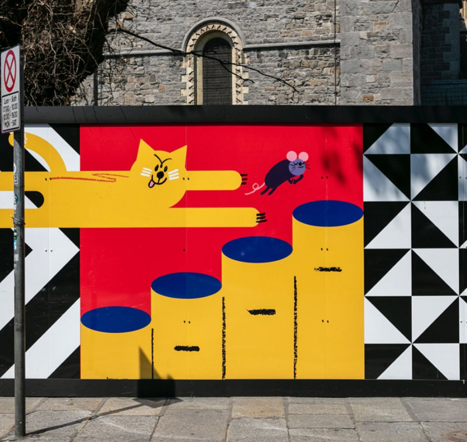Christ Church Cathedral Temporary Hoarding by Ruan van Vliet and Fergal Adams