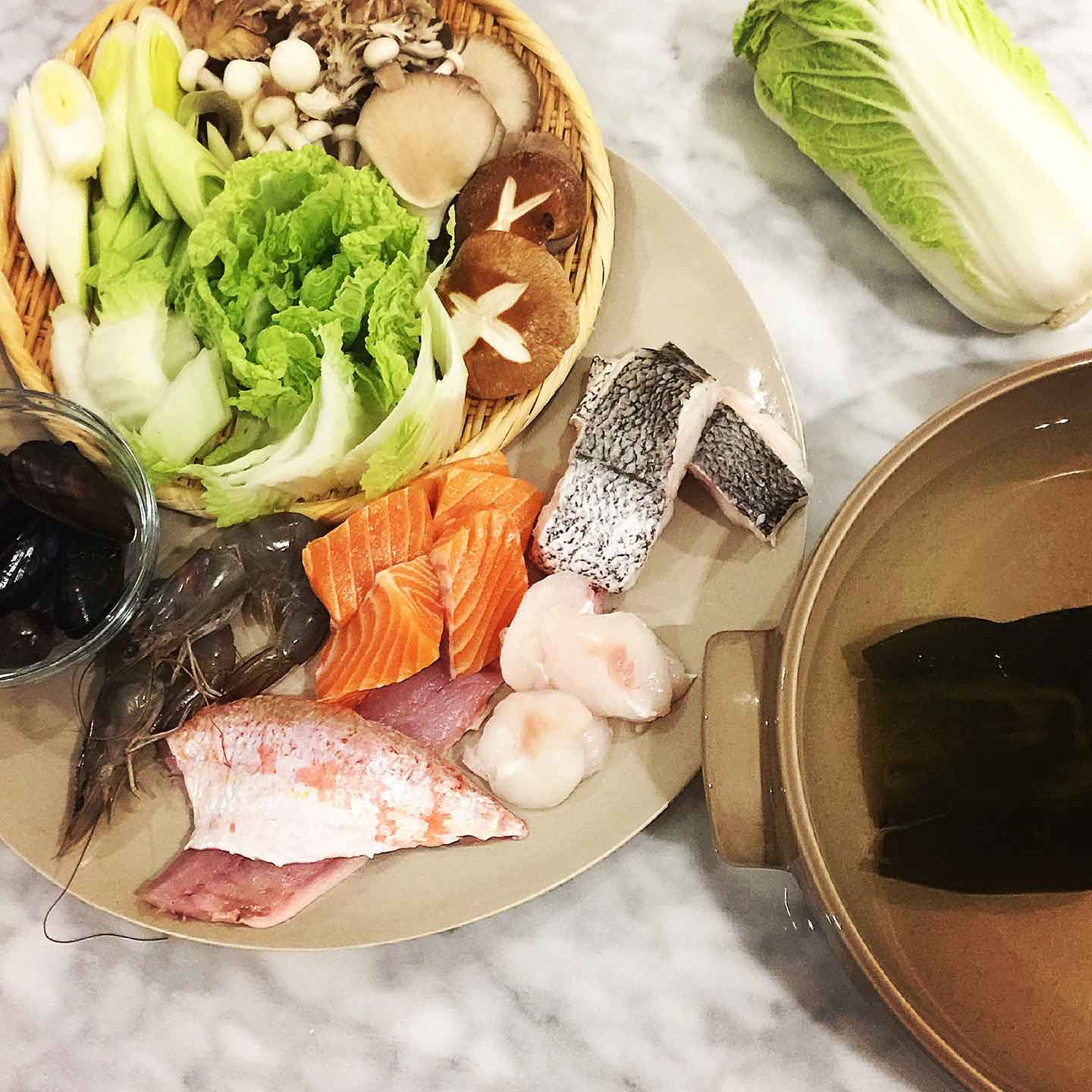 nabe or nabemono is a japanese hot pot, great for cooking at the table with friends.