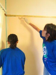 鍼灸院の壁紙塗り替え