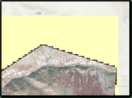 satellite image jagged nodata edge