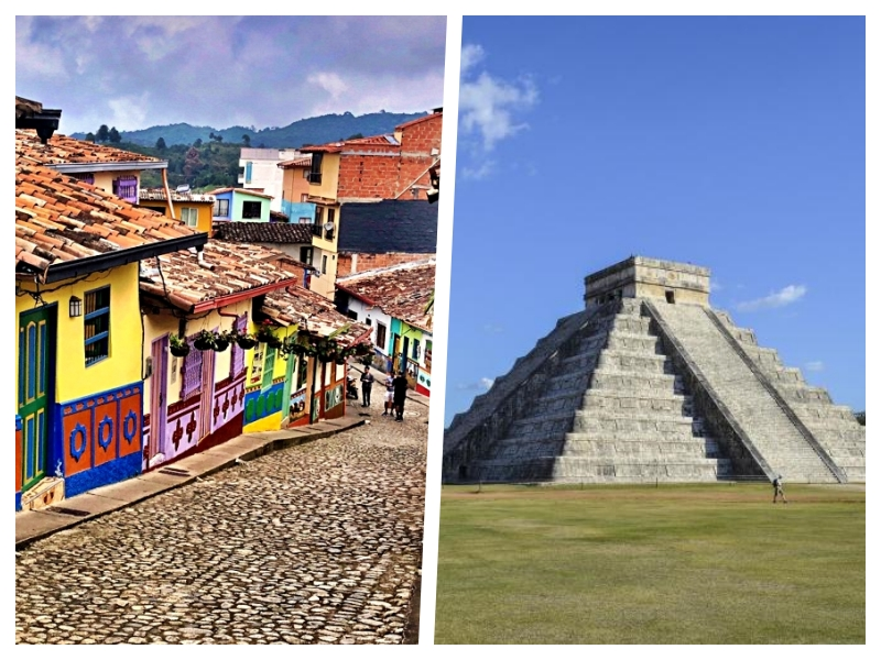 2 for 1 deal: Fly to Medellín, Colombia and then to Cancun for only $438 from Montreal