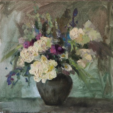 Summer-flowers 40-40см, oil on canvas