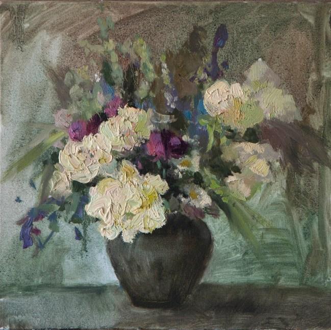 Summer-flowers 40-40см, oil on canvas. 300€