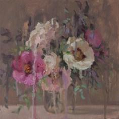 Peonies, 40-400cm. oil on canvas.