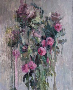 Cabbage_and_dahlias_oil_painting_100_80cm_Yalanzhi_Yulya_2020