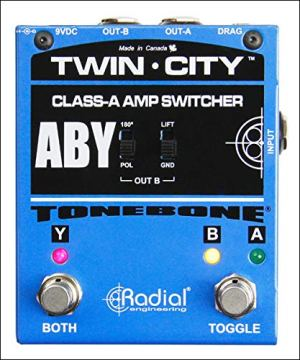 Tonebone Bones Twin-City ABY Guitar Effects Switcher - Blue