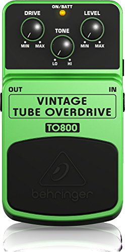 Behringer TO-800 Vintage Tube Overdrive Guitar Effect Pedal