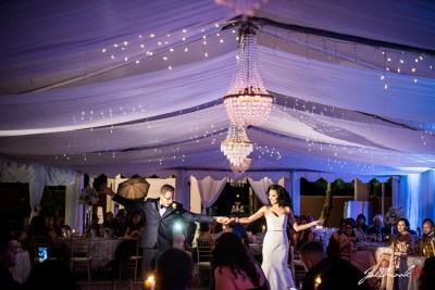 The wedding reception of Natalia and Alfredo at Julieanne's patio Cafe.