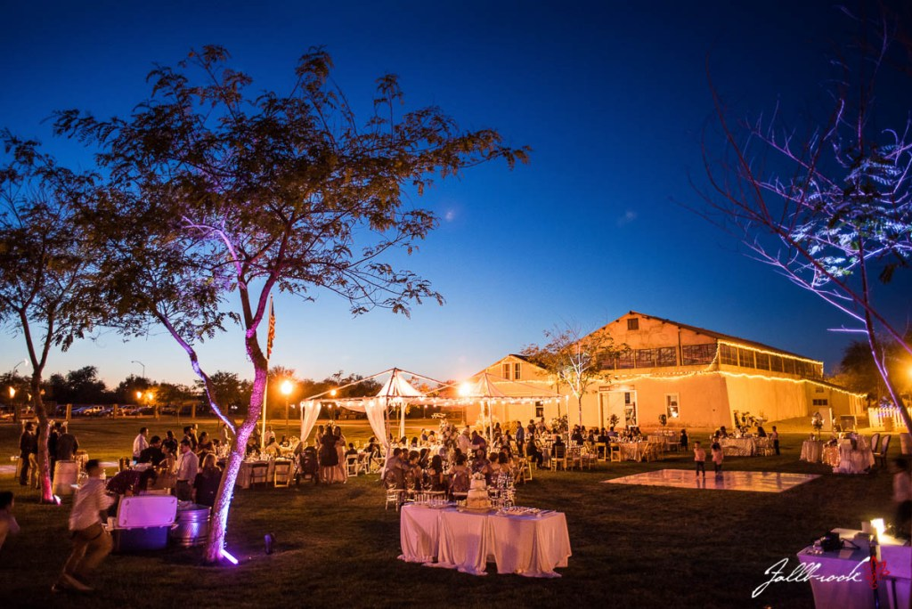 The wedding reception of Alba and Marco at the Quartermaster Depot in Yuma, Arizona.