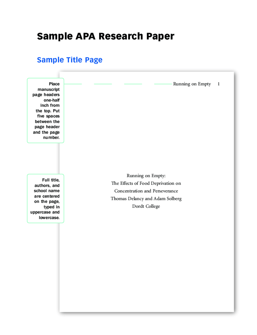 Cover Page Format Why Should I Include A Title Page In My