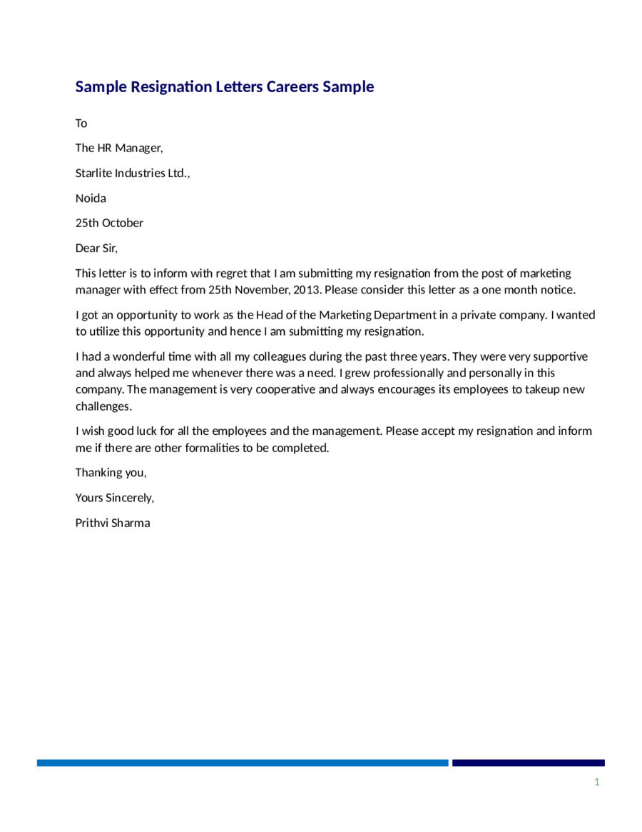 how to write resignation letter with notice period A two weeks notice letter of resignation sample  two weeks notice  resignation letter sample:  if possible, offer your help during the transition  period.